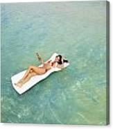 Floating At Sea Canvas Print