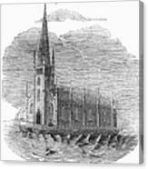 Floating Church, 1849 Canvas Print