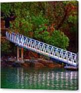 Floating Dock Canvas Print