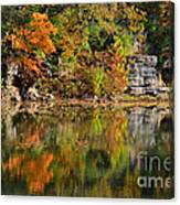 Floating Leaves In Tranquility Canvas Print