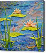 Floating Lilies Canvas Print