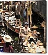 Floating Market Bangkok Canvas Print