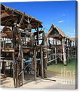 Floating Restaurants. Canvas Print