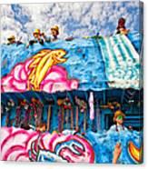 Floating Thru Mardi Gras Canvas Print