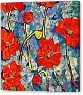 Floral Art - Red Poppies Canvas Print