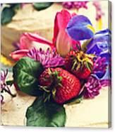 Floral Cake Canvas Print