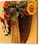 Floral Horn Of Plenty Canvas Print