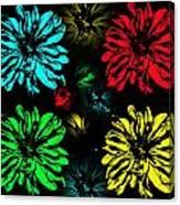 Floral Pop Art Canvas Print