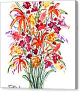Floral Six Canvas Print