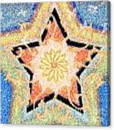 Floral Star Yantra Canvas Print