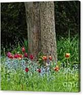 Floral Surrounding Canvas Print