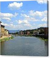 Florence Arno River Canvas Print