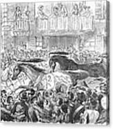 Florence: Horse Race, 1857 Canvas Print