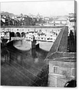 Florence Italy - Vecchio Bridge And River Arno Canvas Print