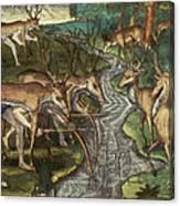 Florida: Hunters, C1591 Canvas Print