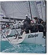 Florida Mid-winter Sailboat Racing Canvas Print