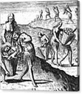 Florida: Storing Food, 1591 Canvas Print