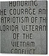 Florida Vietnam War Memorial Canvas Print