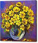 Flower Are Yellow Canvas Print
