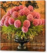 Flower Arrangement Chateau Chenonceau Canvas Print