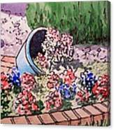 Flower Bed Sketchbook Project Down My Street Canvas Print