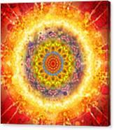 Flower Chakra Mandala Canvas Print