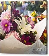 Flower Market Canvas Print