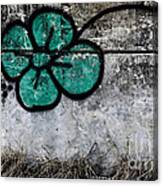 Flower On The Rocks Canvas Print