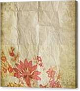Flower Pattern On Old Paper Canvas Print