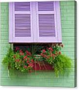 Flower Pot Window Canvas Print