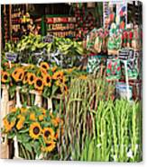 Flower Shop In Amsterdam Canvas Print