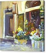 Flower Shop In Italy Canvas Print