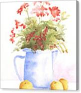 Flowers And Lemons Canvas Print