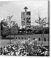 Flowers At Citi Field In Black And White Canvas Print