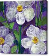 Flowers In Moonlight Canvas Print