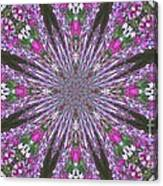 Flowery Snow Flake Canvas Print