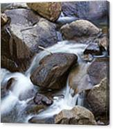 Flowing Water Down The Colorado St Vrain River Canvas Print