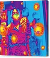 Flu Pandemic, Artwork Canvas Print