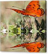 Fluttering Reflections - Butterfly Canvas Print