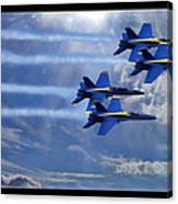 Fly The Skys Blue Angels Canvas Print
