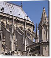 Flying Buttress At Nortre Dame Cathedral Canvas Print