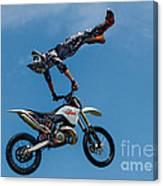 Flying High Motorcyle Tricks Canvas Print