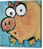 Flying Pig 2 Canvas Print