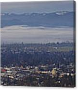 Fog Over A Grants Pass Morning Canvas Print