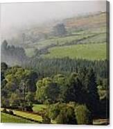Fog Rolling Into Nire Valley Clonmel Canvas Print