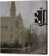 Foggy Herne Bay 1 Canvas Print