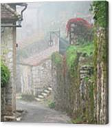 Foggy Lane In St Cirq Canvas Print