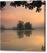 Foggy Summer Sunrise At Harvard Pond Canvas Print
