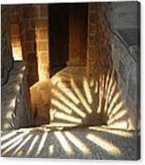 Follow The Light-stairs Canvas Print