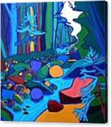 Follow The River Jackson Nh Canvas Print